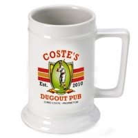 Personalized Dugout Beer Stein