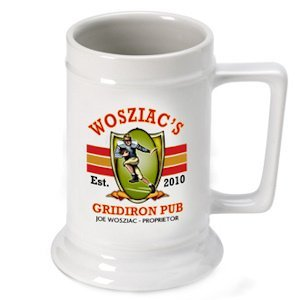 Personalized Gridiron Beer Stein image