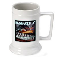 Personalized Piano Bar Beer Stein