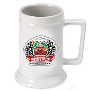 Personalized Racing 'Pit-Stop' Beer Stein image