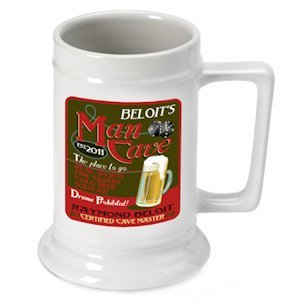 Personalized Man Cave Beer Stein image