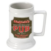 Personalized Neighborhood Pub Beer Stein