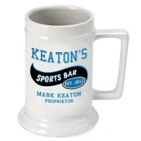 Personalized Sports Bar Beer Stein