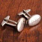 Monogrammed High Polish Oval Cuff Links
