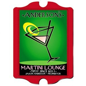 Personalized Vintage 'Cosmo' Martini Lounge Sign image