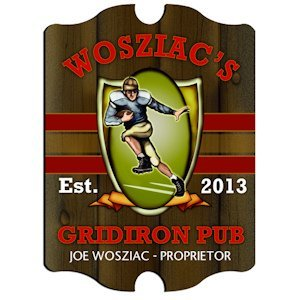 Personalized Vintage Gridiron Pub Sign image