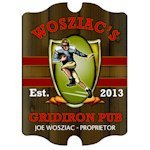 Personalized Vintage Gridiron Pub Sign