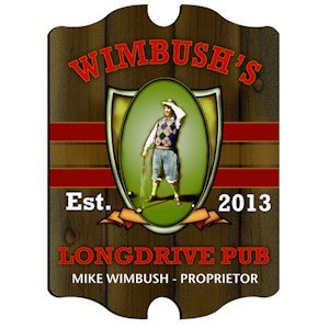 Personalized Vintage Long Drive Pub Sign image