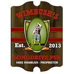 Personalized Vintage Long Drive Pub Sign