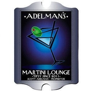 Personalized Vintage 'After-Hours' Martini Lounge Sign image