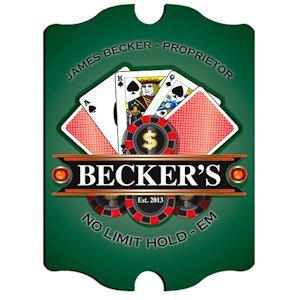 Personalized Vintage 'Texas-Hold-Em' Pub Sign image