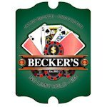 Personalized Vintage 'Texas-Hold-Em' Pub Sign