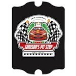 Personalized Vintage Racing 'Pit-Stop' Pub Sign