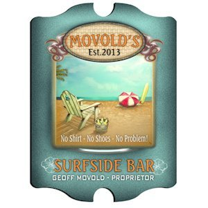 Personalized Vintage 'Surfside' Pub Sign image