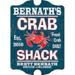 Personalized Vintage Crab Shack Pub Sign