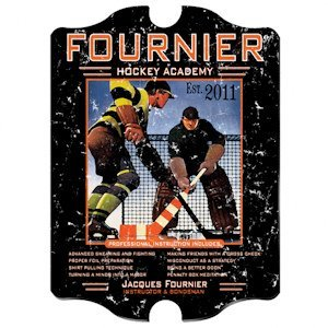 Personalized Vintage Hockey Academy Pub Sign image