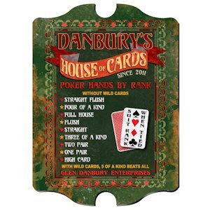 Personalized Vintage 'House of Cards' Pub Sign image