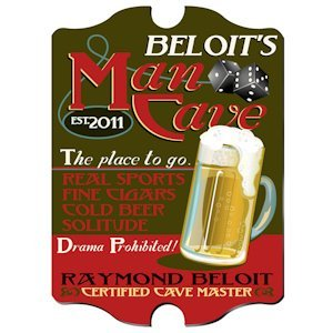 Personalized Vintage Man Cave Pub Sign image