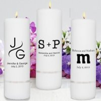 Monogram Unity Candles for Weddings (Pillar or Set)