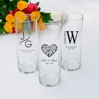 Personalized Monogram Favor Vases (Set of 6)