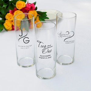 Personalized Romance Favor Vases (Set of 6) image