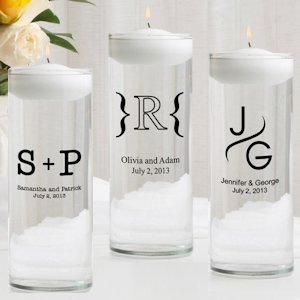 Monogram Floating Unity Candle & Unity Candle Set image