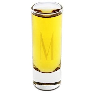 Monogrammed Tall Shooter Shot Glass image