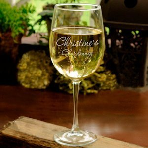Personalized White Wine Glass image
