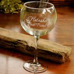 Personalized Red Wine Goblet