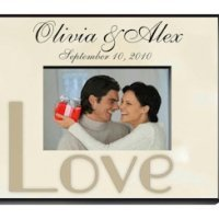 Customized Wedding Parchment Photo Frame