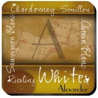 Personalized White Wine Coaster Set