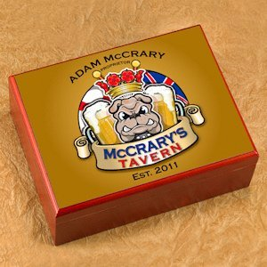 Personalized Bulldog Cigar Humidor image
