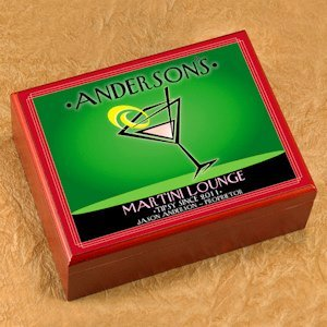 Personalized Martini Cosmo Cigar Humidor image