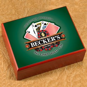 Personalized Poker Cigar Humidor image