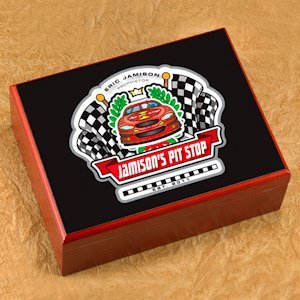 Personalized Racing Cigar Humidor image