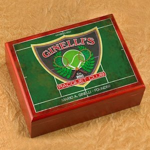 Personalized Racquet Club Cigar Humidor image