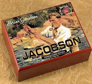 Personalized Fishing Guide Cigar Humidor image