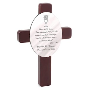 Personalized First Communion Cross image