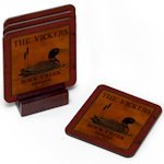 Cabin Series Personalized Coaster Set (8 Designs)