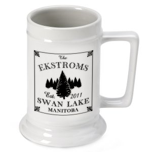 Personalized Cabin Series Beer Steins (9 Designs) image