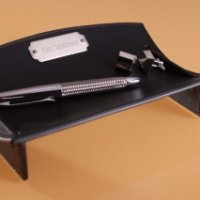 Personalized Leather Desk Caddy