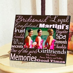 Personalized Bridesmaid Picture Frames (7 color choices) image