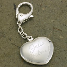 Key To My Heart Personalized Silver Plated Key Chain image