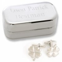 Dashing Four Leaf Clover Cufflinks