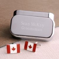 Dashing Canada Flag Cufflinks