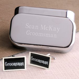 Dashing Groomsman Cufflinks image