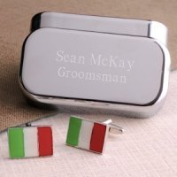 Dashing Italian Flag Cufflinks