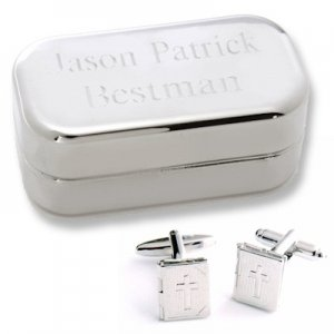 Dashing Bible Locket Cufflinks with Personalized Case image