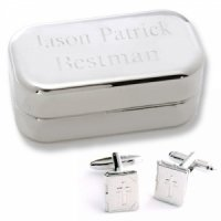 Dashing Bible Locket Cufflinks with Personalized Case