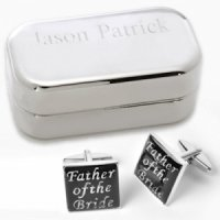 Father of the Bride Cufflinks with Personalized Case